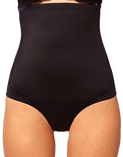 Culotte contenitiva vita alta snellente modellante effetto push up MEDIA WAVE store ® Nero