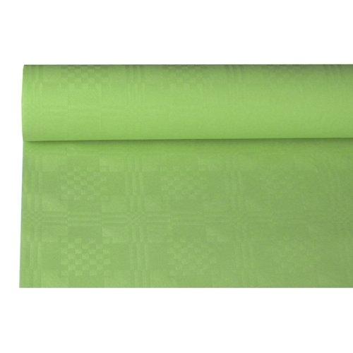 Tischrolle - Papier mit Damastdruck - Farbe: olivgrün - Breite: 1,20 m- Länge: 8 m