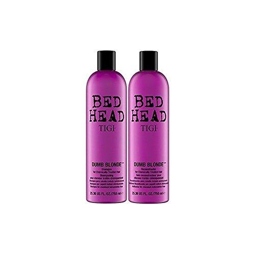 Tigi Bed Head Dumb Blonde Shampoo und Reconstructor Pflegespülung Duo–25.36oz je (Blonde Conditioner Dumb Shampoo)