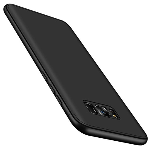 Qissy® Carcasa Samsung Galaxy S8 Plus ,3 in 1 Todo incluido Anti-Scratch Ultra Slim Protective 360 PC Case Cover para Samsung Galaxy S8/S8 + (Samsung Galaxy S8 Plus, negro)