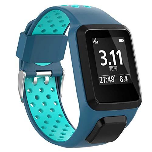 Serie 2 Ersatz (hifuture Uhrenarmband Silikon Ersatz Uhrenarmbänder Straps Sport Armband für Tomtom 2 3 Series Runner 2 3 Spark Series Golfer 2 Abenteurer GPS-Uhr)