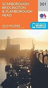 OS Explorer Map 301 Scarborough, Bridlington and Flamborough Head OS Explorer Paper Map (OS Explorer Active Map)