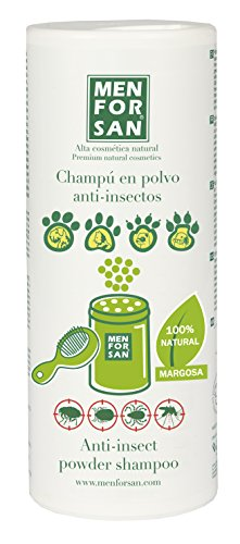 MENFORSAN Repelente de con polvo perro champú, 250g