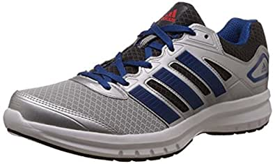Adidas Men's Galactus M Silver, Blue, Dark Grey and Red Mesh Running Shoes - 10 UK