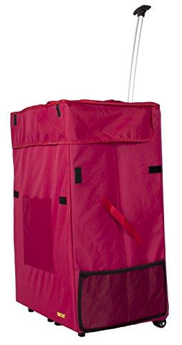 Jumbo Warenkorb (Jumbo Smart Cart ROT Rolling Mehrzweck-Korb faltbar Warenkorb Scrapbooking Wäschekorb)