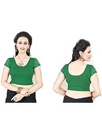 Bollywood Readymade Stitched Free Size Saree Blouse,Fertige Saree Bluse,Partywear Ready Crop Top, Indische,Hochzeit, Kleid - 101 (Ant Irish Green)