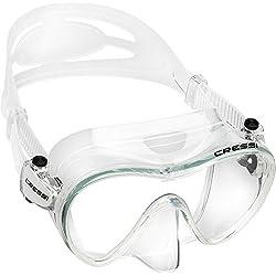 Cressi F1 Masque Plongee Snorkeling Adulte, Technologie Frameless Transaprent