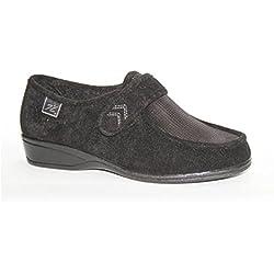 Zapatillas velcro pies muy delicados Doctor Cutillas en negro talla 40