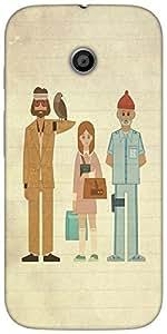 Snoogg Be Hippie Designer Protective Back Case Cover For Motorola E 2Nd Gener...