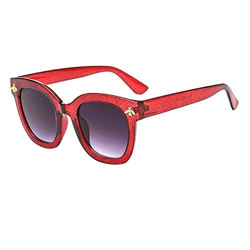 LLonGao Frauen-Mann-Weinlese-Bienen-Sonnenbrille-Retro großer Rahmen Eyewear-Mode UV-Schutz Augengesundheit Sonnenbrille Mode Casual Klappbar Brille