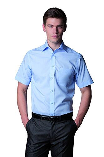 Kustom Kit Premium kurze Ärmel, Shirt Non Iron Corporate Arbeitshose, smart,, Weiß - Weiß