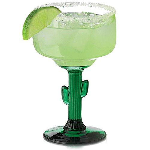 Cactus Cocktailgläser Margarita Gläser 12.5oz / 355ml, 4 Stück - Margarita-gläsern