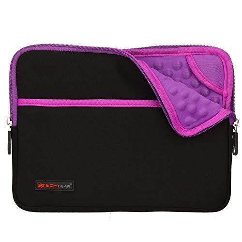 TECHGEAR Sentinel Pro Sleeve (10) Neoprenhülle mit Reißverschluss, schmal, mit Anti-Shock Luftpolsterung Innen, iPad Serie violett violett