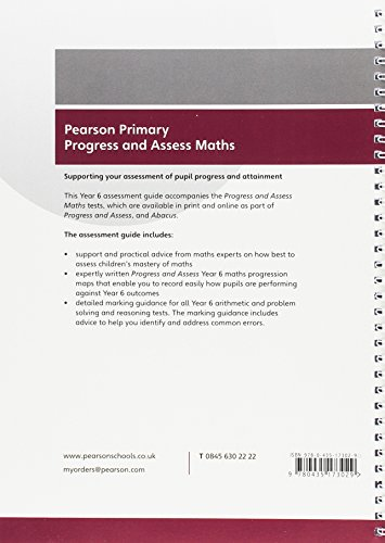 Pearson Primary Progress and Assess Teacher's Guide: Year 6 Maths (Progress & Assess Maths Print)