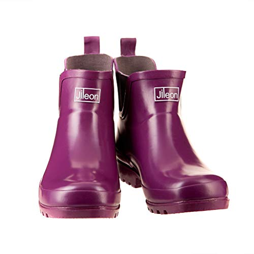 Jileon Ankle Height Wellies - Wide Foot EEE Fit - Ideal for Wide Calves and Feet