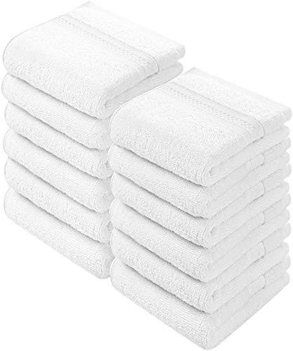 Utopia Towels - 700 GSM Waschlappen Handtuch-Set (12 Pack, Weiß, 30 x 30 cm) Mehrzweck-Extra Soft Fingertip Handtücher, hochabsorbierende Waschlappen, Maschinen waschbar