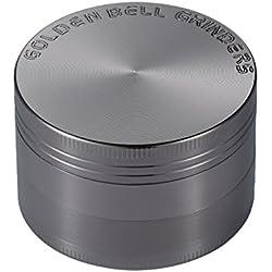 "LIHAO [Grinder Garanzia a Vita] 2""(50mm) Spezie Erbe Grinder in 4 Pezzi Tritino in Metallo - Nickel nero"
