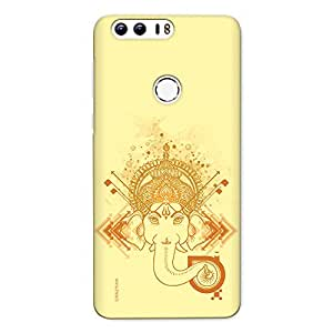 CrazyInk Premium 3D Back Cover for Honor 8 - Ganesha_Watercolor