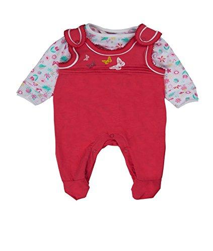 Kanz Baby - Mädchen Bekleidungsset Strampler + T - Shirt 1/1 Arm, mit Print, Gr. 56, Rosa (hot pink|pink 2610)