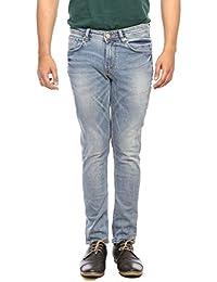 Spykar Mens Light Blue Super Skinny Fit Low Rise Jeans