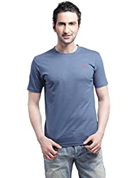 Crosscreek Casual Orion Blue Solid T-Shirt - 910015
