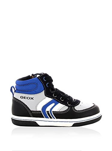 Geox B Flick Boy, Baskets mode bébé garçon Bleu