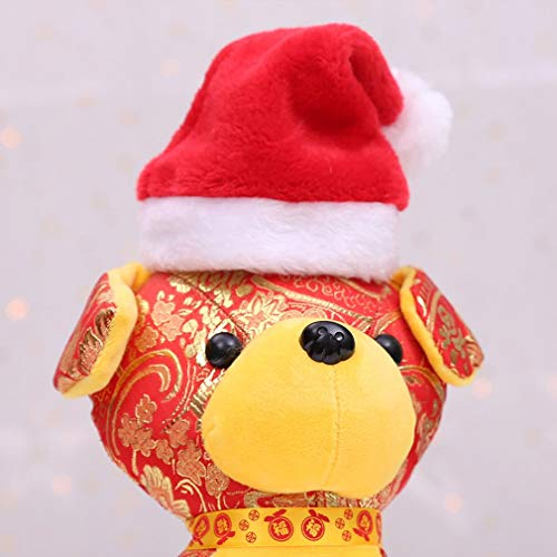 Welpen-Hund für Weihnachten Hündchen Hat Santa Hat Kostüm -
