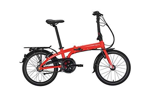 Tern City Fahrrad Falt-und Kompaktrad 20 Zoll Link C7i - Shimano 7-Gang Nabenschaltung mit Freilauf, rot