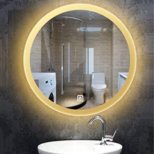 lei shop Led Badezimmerspiegel Runde Wand-Anti-Fog explosionsgeschützte wasserdichte und korrosionsbeständige Beleuchtung einfache Moderne Spiegel, Bad