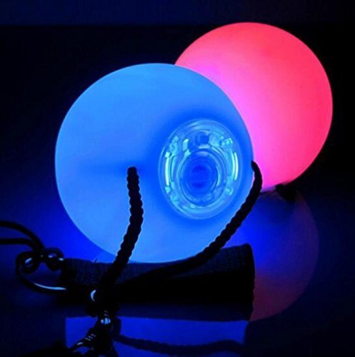 JOYOOO soft   safe Light Weight Multi Functioning Glow LED Poi With 7 Colour  incl Batteries