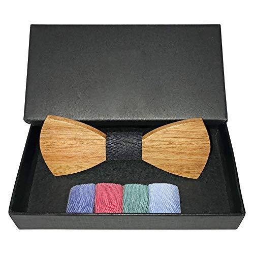 Bellmot Bellmot 5in1 Holzfliege. Die Holz Fliege für Männer und Herren in rot, blau, grün, hellblau und schwarz