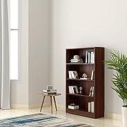Amazon Brand - Solimo Glanville Engineered Wood Bookcase (Walnut)