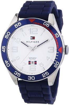 Tommy Hilfiger Cal - Reloj de cuarzo para hombre, con correa de plástico, color azul