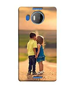 PrintVisa Designer Back Case Cover for Microsoft Lumia 950 XL :: Microsoft Lumia 950 XL Dual SIM (Child Play Sunlight Wallpaper Backcover Attraction)