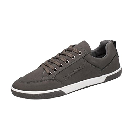 Baskets en Cuir Homme,Hiver Chaussures Bateau Lacets Casual Mocassins Noir Mode Overdose Running Sneakers