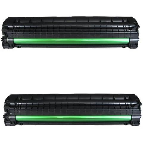 2 x Samsung Cartuchos de Toner compatible negro ML1660, ML1661, ML1665, ML1660N, ML1666, ML1670, ML1675, ML1860, ML1865, ML1865W, Scx3000, Scx3200, Scx3200W, Scx3205, Scx3205W, MLT-D1042S ENVÍO DESDE MADRID, EMPRESA