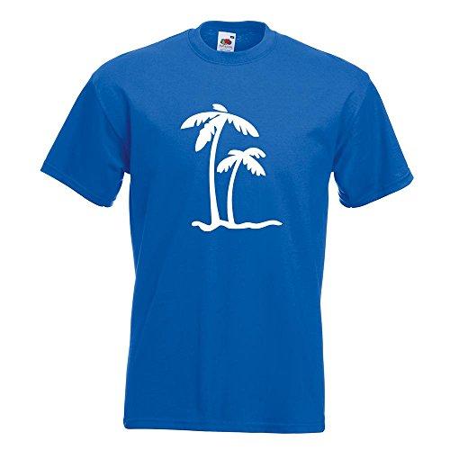 KIWISTAR - Palmen T-Shirt in 15 verschiedenen Farben - Herren Funshirt bedruckt Design Sprüche Spruch Motive Oberteil Baumwolle Print Größe S M L XL XXL Royal