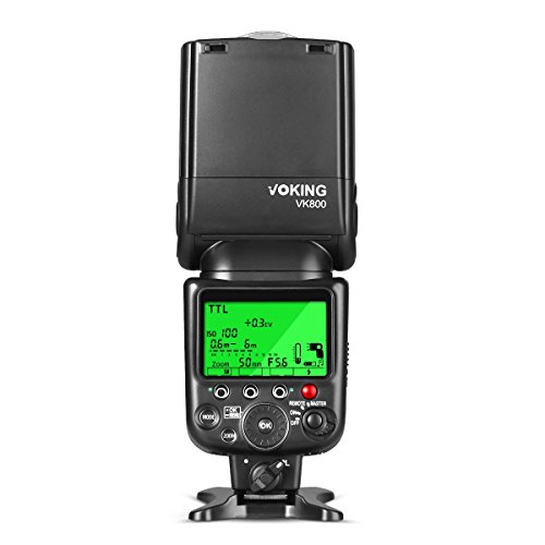 Voking-VK800-LCD-Display-i-TTL-TTL-Speedlite-per-Nikon-D3300D3400D5D500D5600D610D7100D7200D7500D810-etc-e-altri-Hot-Shoe-DSLR