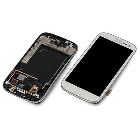 Samsung GT-i9305 LTE Galaxy S3 Display Touchscreen Rahmen Weiß Original