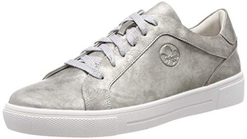 Rieker Damen N9110 Sneaker, Silber (Antiksilber 90), 39 EU
