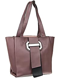 Abrazo Fashionable Purple Color Hand Bag For Women's In Good PU Material