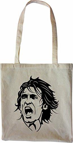 Mister Merchandise Tasche Andrea Pirlo Stofftasche , Farbe: Schwarz Natur