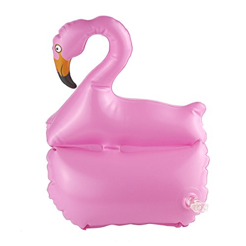 QUN FENG Flamingo Bandas de natación para niños Mangas inflables Flotadores seguros (Rosa)