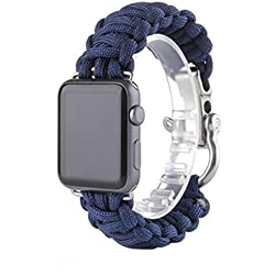 For Apple Watch Band, Fulltime(TM) NEW Nylon Rope Survival Bracelet Watch band For iWatch Apple Watch 38mm