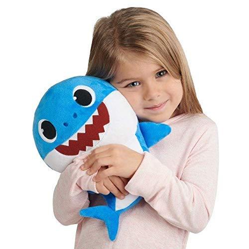 Babyhai singender Plüsch Musik Ton Baby Shark Jazwares Baby Shark Plüschtier Hai Plüschspielzeug Hai gefüllt & Plüsch Spielzeug singend Englisch Lied für Kinder Geschenk Kinder Mädchen (blue) (Mädchen Plüsch-spielzeug)