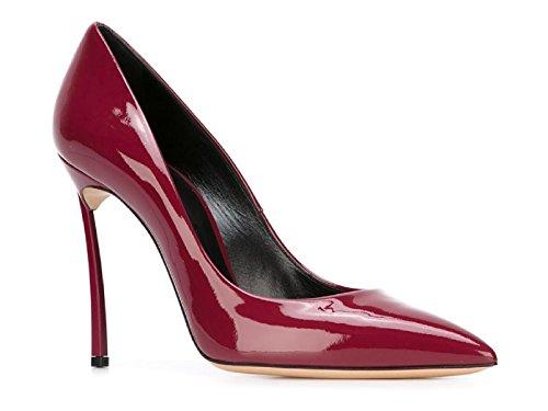 Chaussures à talon Casadei en cuir verni bordeaux - Code modèle: 1F161D100HHTIF747 Bordeaux