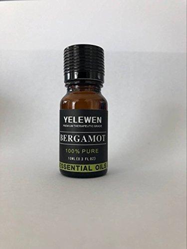Yelewen Aromatherapie Bergamotte Ätherische Öle 100% Pure Organic & Therapeutische Grade Duftöle 10 ml Perfekt für Diffusor, Meditation, Entspannung, Schlaf, Kosmetika, Seifen, Kerzen, Haut Care & Mehr -