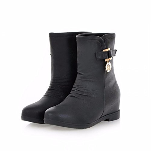 1d3303c639ef Warm Raised Black Invisible Antiskid Inner Keep Cotton Shoes Student Boots  xHFOUx