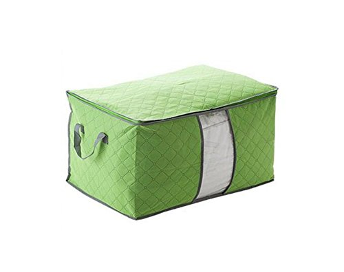 1 großes Fassungsvermögen Vlies Stoff Quilt Aufbewahrung bag-thicken faltbar Kleidung Matratze Aufbewahrungsbox Kissen Decke Organizer Tasche mit Reißverschluss grün (Lagerplatz Mit Reißverschluss)