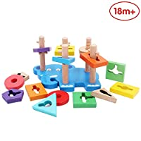 ANIKI TOYS Baby Wooden Shape Color Sorter Toy